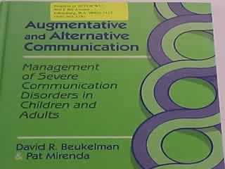 acquired adult alternative augmentative communication disorder neurologic